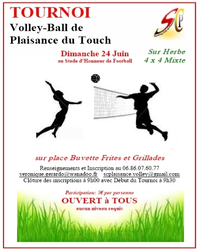 Tournoi volley-ball sur Herbe 4x4 Plaisance du Touch(grand format) - Activité 'Volley/Beach volley' - Les Rendez-Vous Du Coin